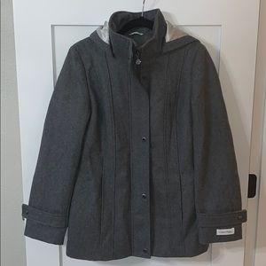 Calvin Klein Peacoat Size 6 Tin/Gray NWT
